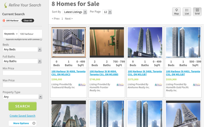 100 Harbour Condos for Sale - Live Listings - Contact Yossi Kaplan