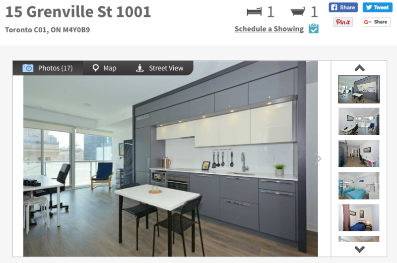 15 Grenville Condos - One + Den for Sale