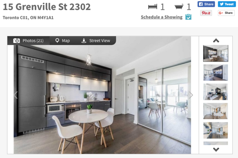 15 Grenville Street - One + Den Condo for Sale