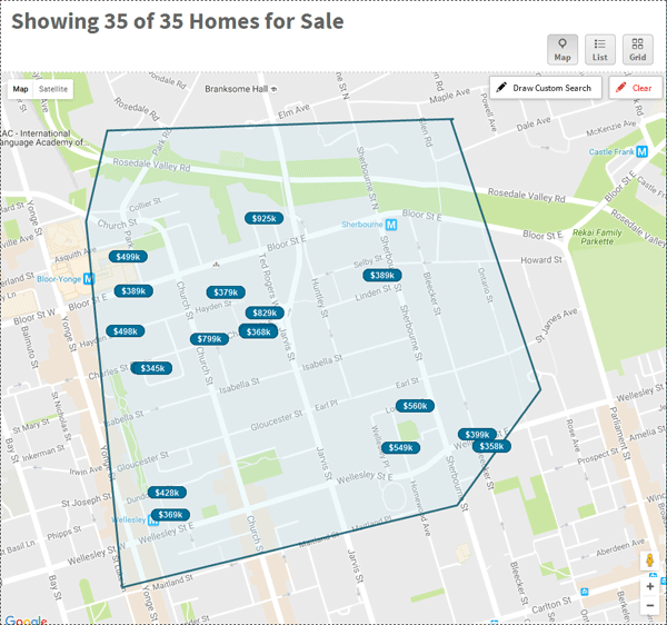 159SW - 159 WELLESLEY CONDOS FOR SALE - MAP LINK YOSSI KAPLAN