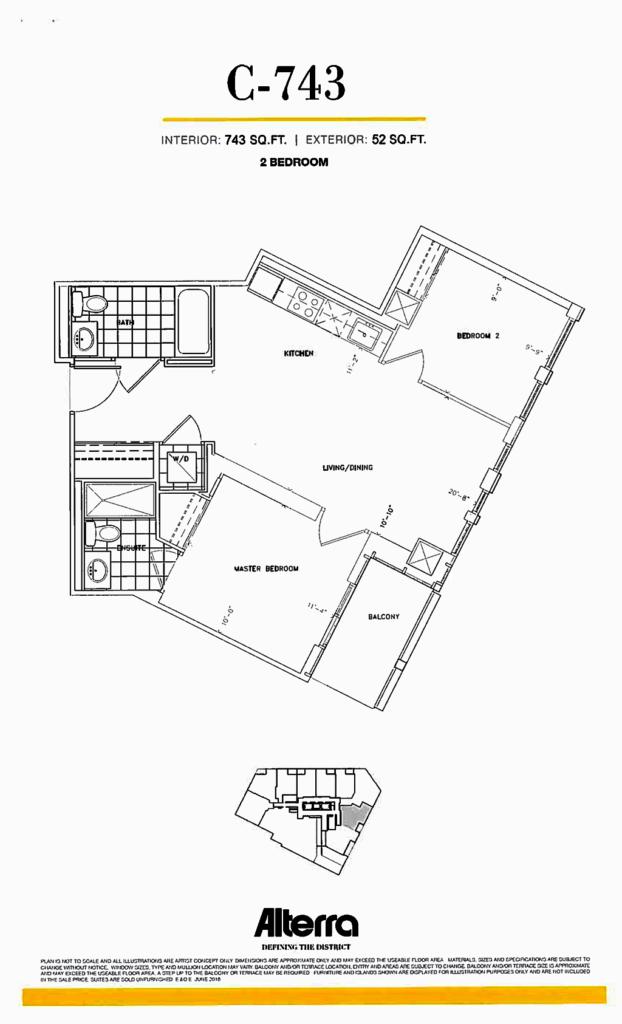 159SW - FLOORPLAN C-743 TWO BEDROOM