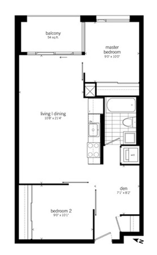 20 GLADSTONE - TWO BEDROOM FOR SALE FLOORPLANS - CONTACT YOSSI KAPLAN