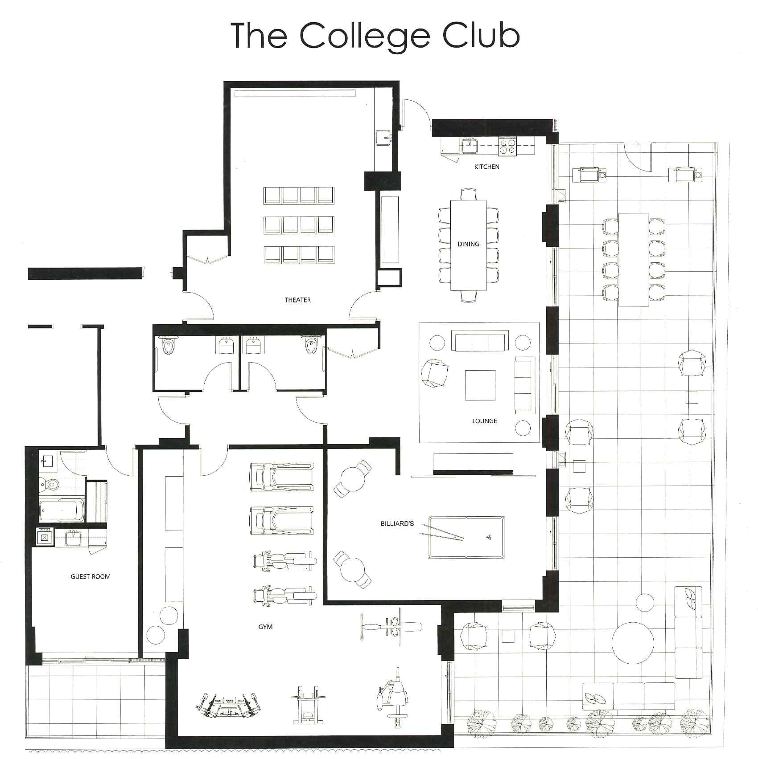 297 COLLEGE CONDOS AT SPADINA - THE COLLEGE CLUB AMENITIES