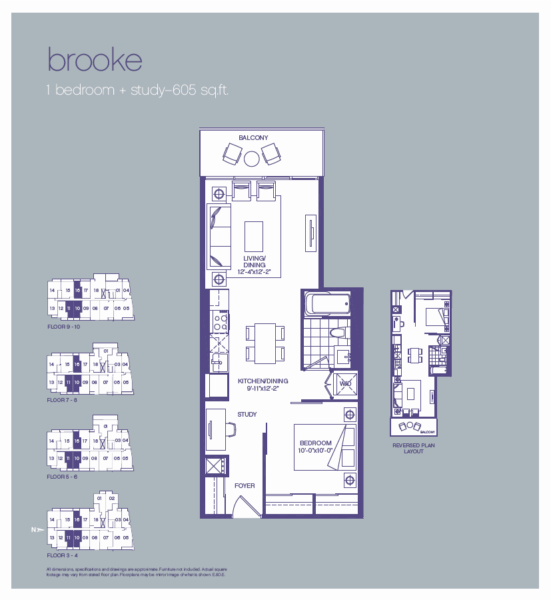 3018 Yonge St Floorplan - One Bedroom for Sale