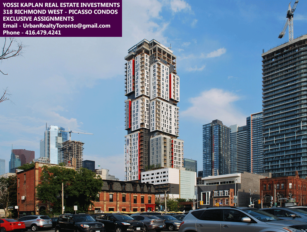 318 RICHMOND WEST - PICASSO CONDOS BUYING OR SELLING - CONTACT YOSSI KAPLAN