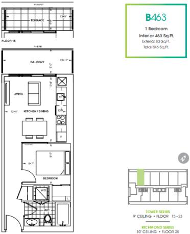 330 Richmond Condos 463 floorplan