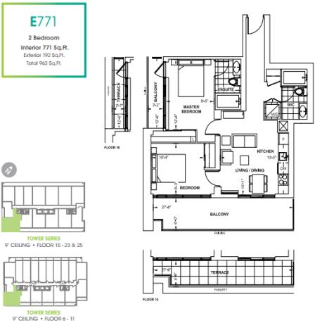 330 Richmond Condos 771 floorplan