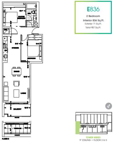 330 Richmond Condos 836 floorplan