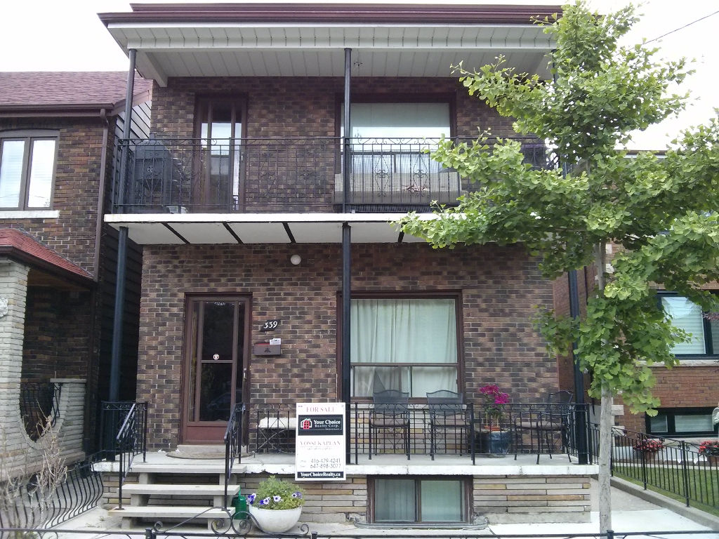 339 EUCLID AVE - TORONTO DUPLEX INVESTMENT CONTACT YOSSI KAPLAN 1024