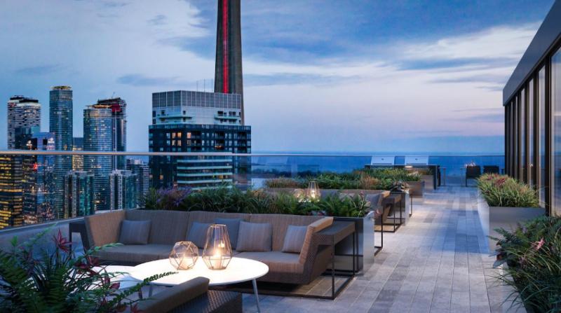 357 King West Condos - Rooftop Terrace Amenities