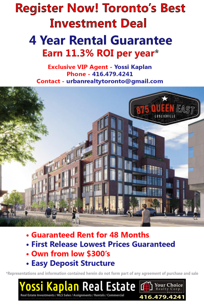 875 QUEEN EAST - TOP INVESTMENT DEAL - CONTACT YOSSI KAPLAN