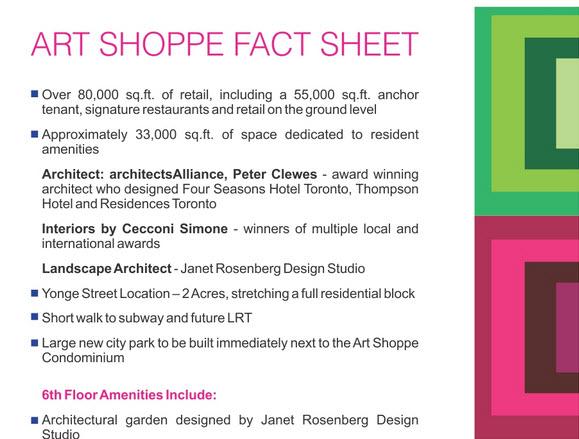 ART SHOPPE CONDOS FACT SHEET 1