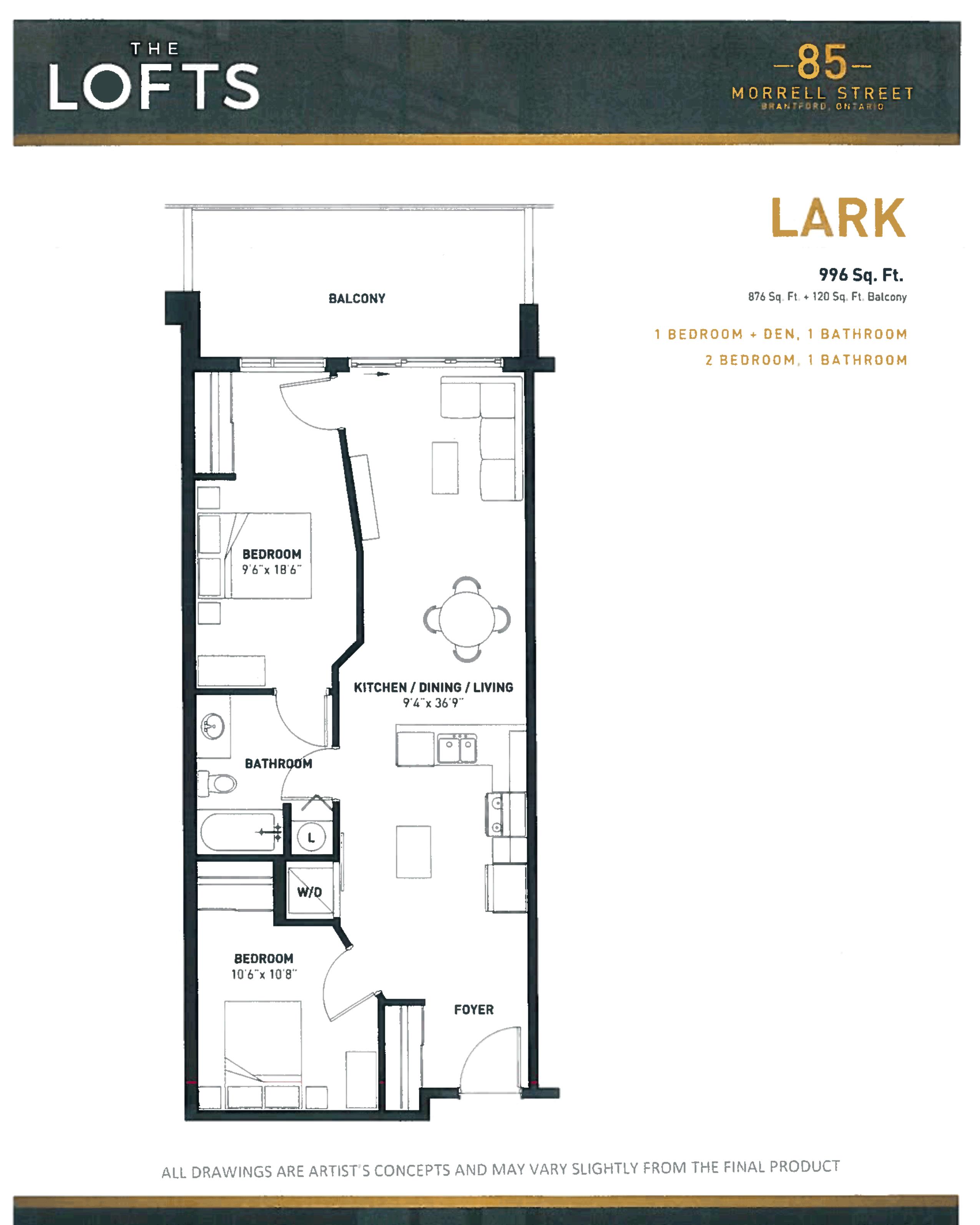 Brantford Lofts at 85 Morrell Floorplan