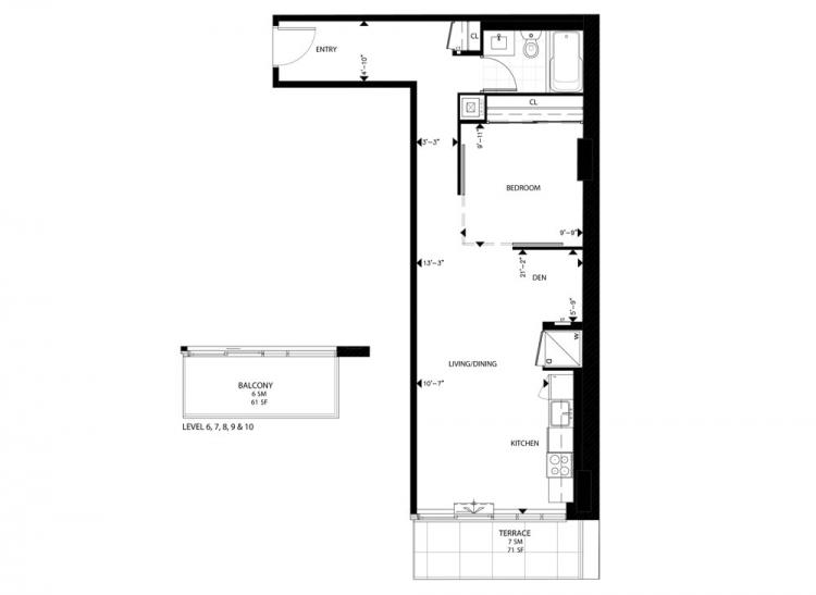 condos-for-sale-at-297-college-st-floorplan-one-bed-661-sq-ft-contact-yossi-kaplan