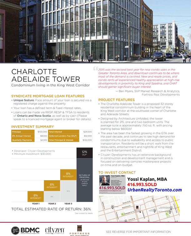 Charlotte-Adelaide Tower - Invest with Yossi Kaplan