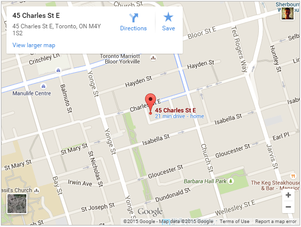 Chaz Condos for sale - 45 Charles St E Map