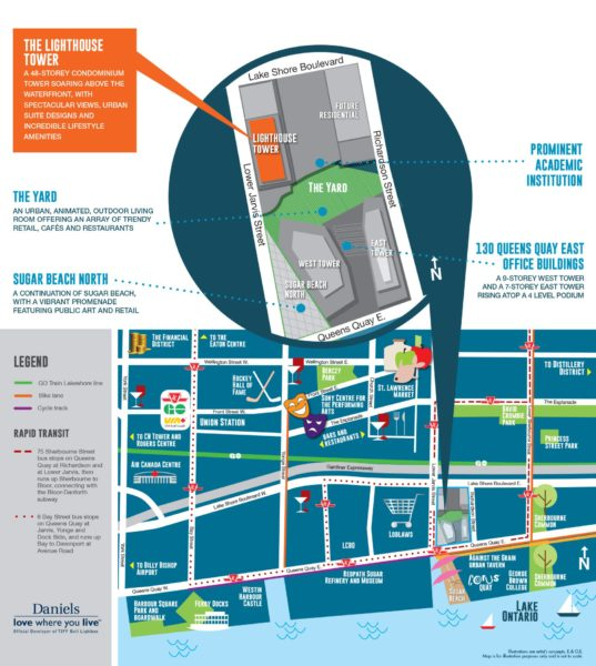 Daniels Waterfront Neighbourhood Map - VIP Sales Contact Yossi Kaplan