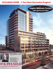 EMPIRE MIDTOWN EXCLUSIVE RENTAL GUARANTEE - CONTACT YOSSI KAPLAN