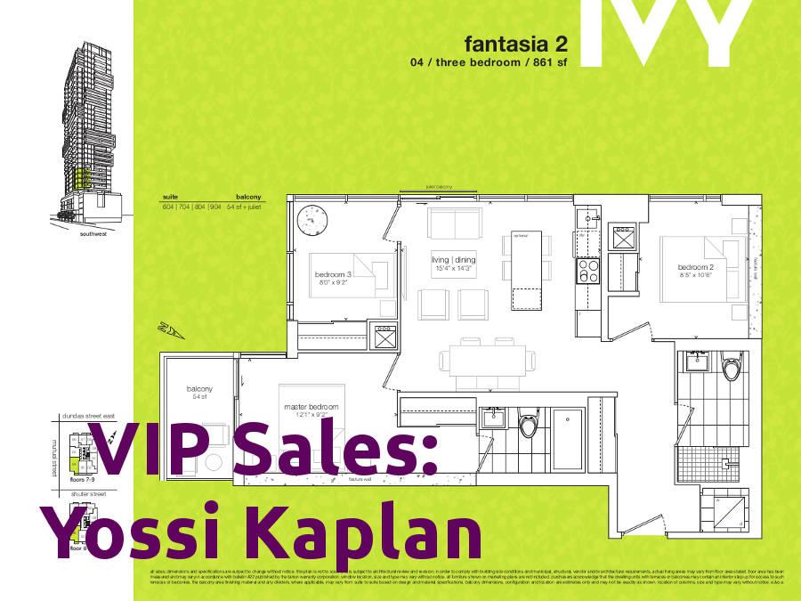 Ivy Condos @ 69 Mutual St - Fantasia 2 Floorplan - VIP Sales Yossi Kaplan