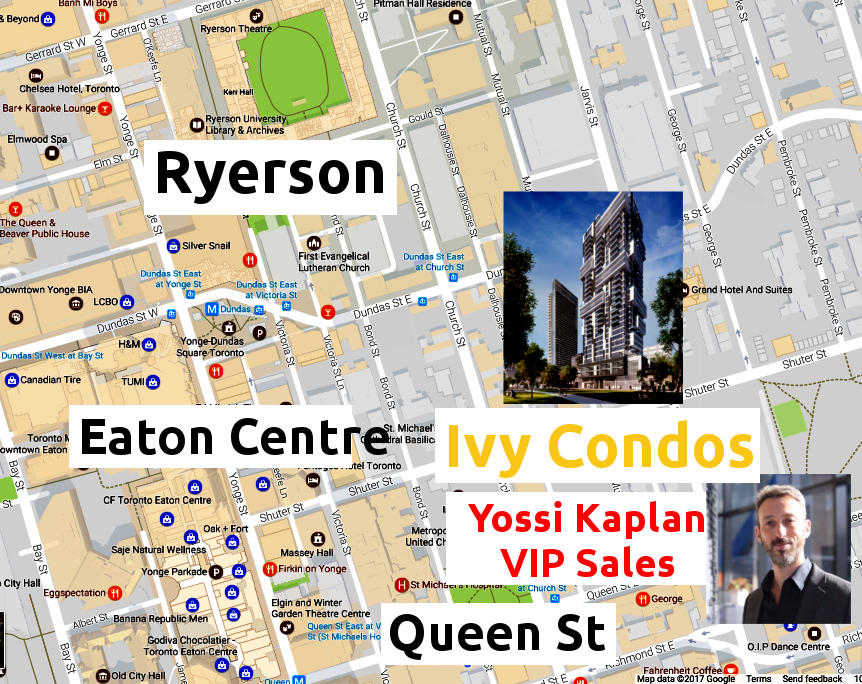 Ivy Condos at 69 Mutual St - Area Map - VIP Sales call Yossi Kaplan