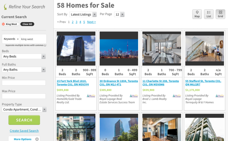 King West Condos for Sale - Live Listings Search - Contact Yossi Kaplan