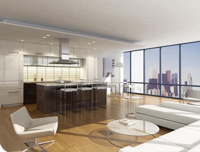 L Tower Model Suite Living Room