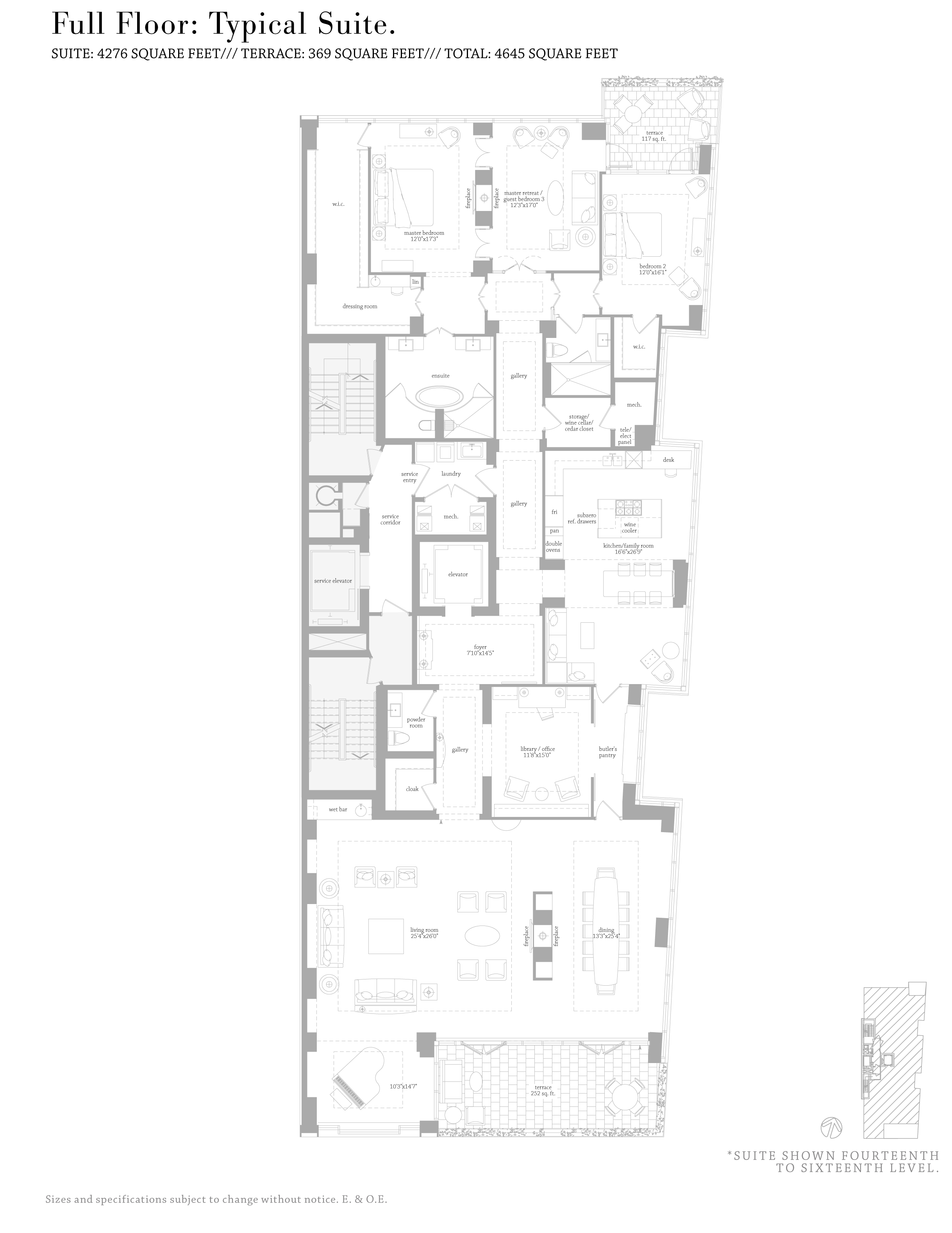 MUSEUM HOUSE FLOORPLANS - FULL FLOOR 4,200 SQ FT