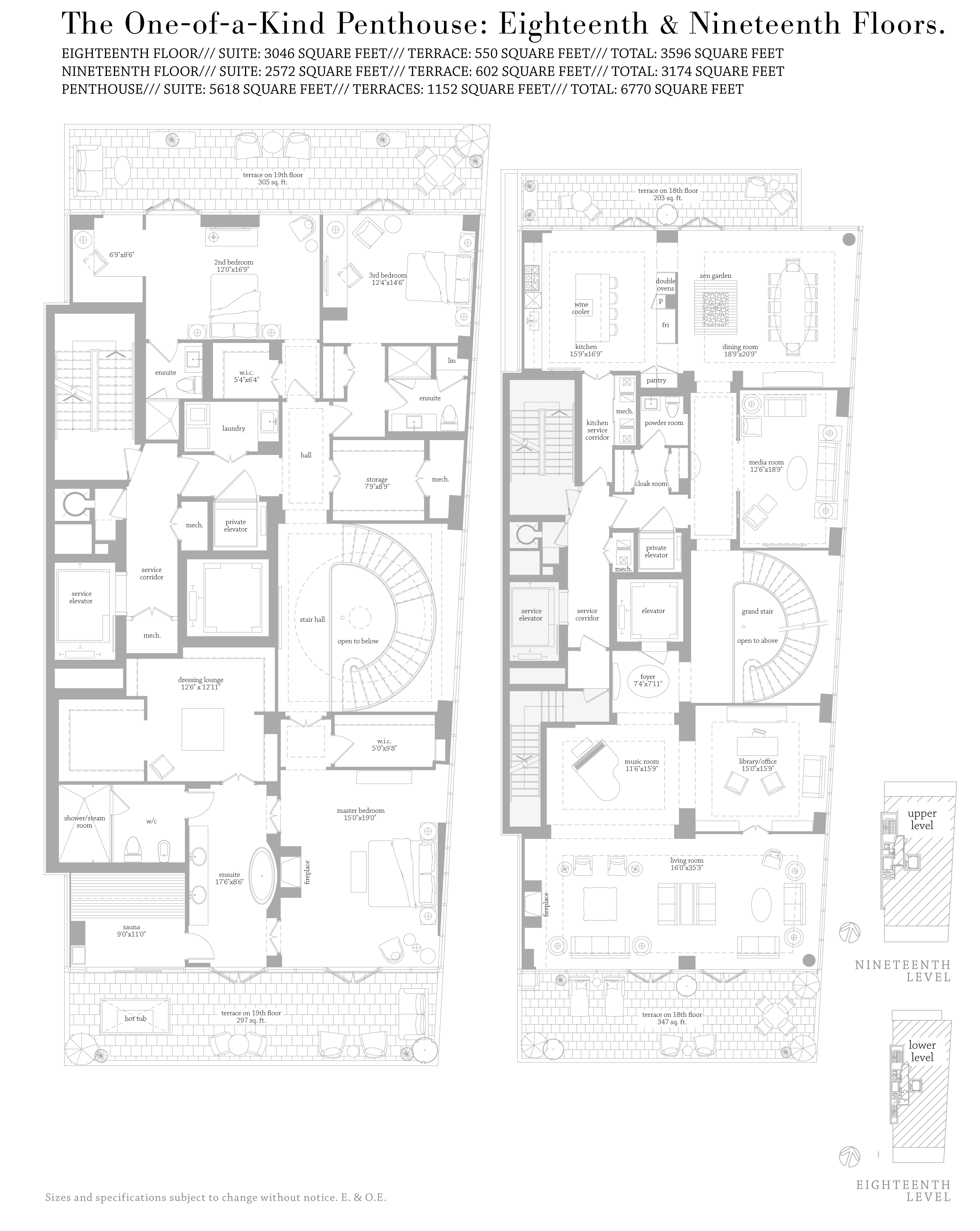 MUSEUM HOUSE FLOORPLANS - PENTHOUSE FLOOR 5,200 SQ FT