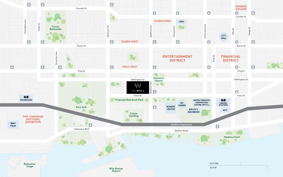 Neighbourhood Map - The Well