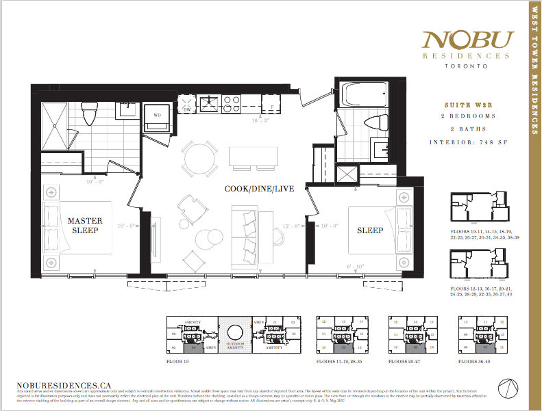 NoBu Condos Flooplan W2E 748 sqft - VIP Sales Yossi Kaplan