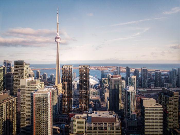 Nobu Residences 15 Mercer St Toronto - Aerial view - Yossi Kaplan VIP Sales