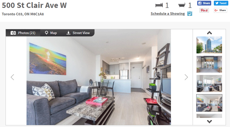 ONE BED FOR SALE AT 500 ST CLAIR W