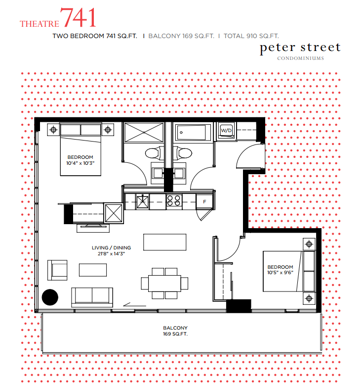 PETER STREET CONDOS FOR SALE - FLOORPLANS 2 BEDROOM