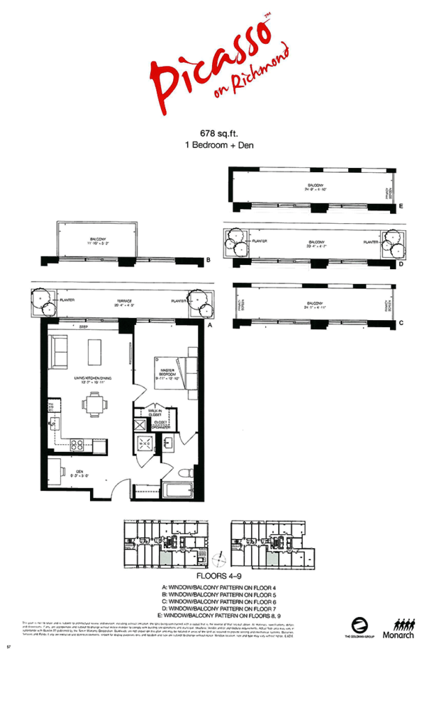 PICASSO CONDOS - ASSIGNMENT FLOORPLAN 678 SQ FT - CONTACT YOSSI KAPLAN 416.479.4241
