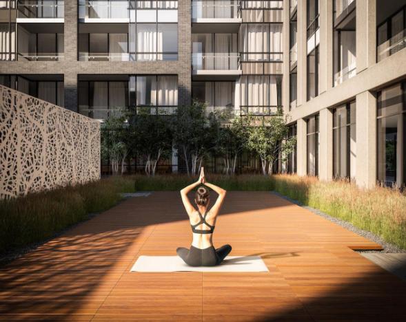 Peter and Adelaide Condos - Yoga Garden