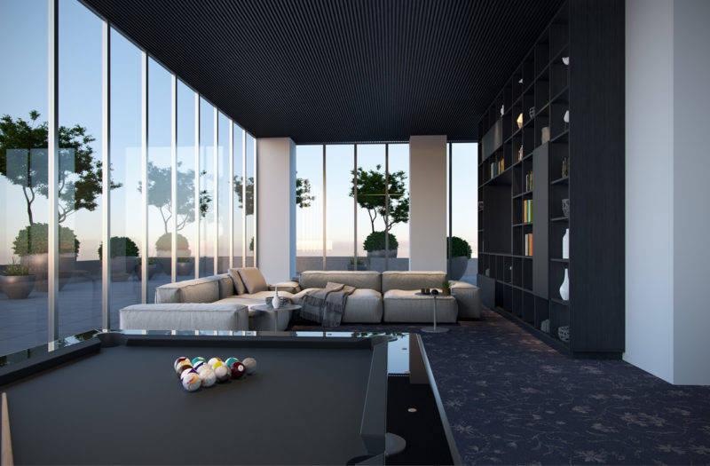 Plaza Midtown Condos - Amenities Lounge
