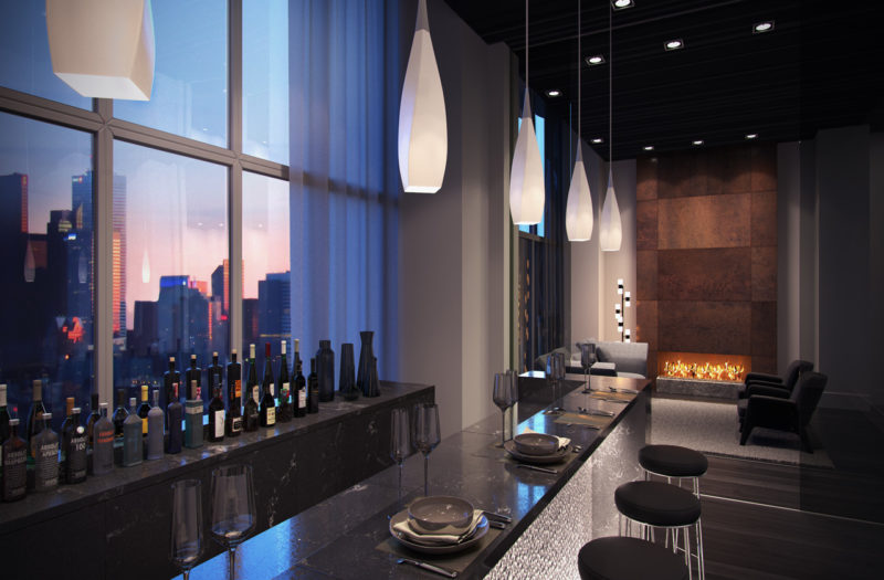 Plaza Midtown Condos - Lounge Bar