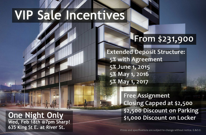 RIVER CITY 3 - VIP SALE INCENTIVES