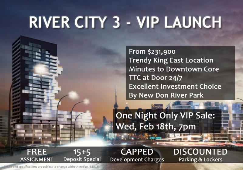 RIVER CITY 3 - VIP LAUNCH - SUMMARY