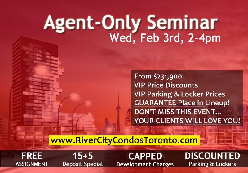 RIVER CITY 3 - VIP AGENT SEMINAR - FEB 3, 2015, 2-4PM