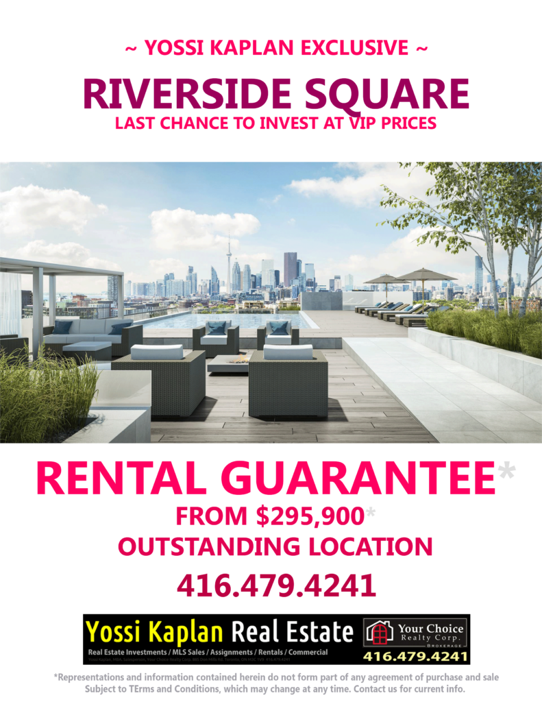 RIVERSIDE SQUARE CONDOS - RENTAL GUARANTEE