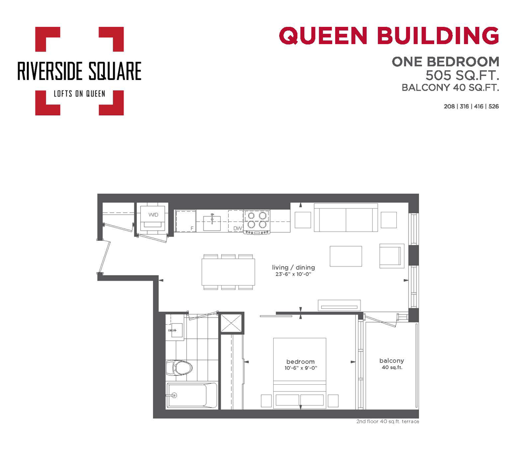 RIVERSIDE SQUARE CONDOS - ONE BED 505 SQ FT - CONTACT YOSSI KAPLAN