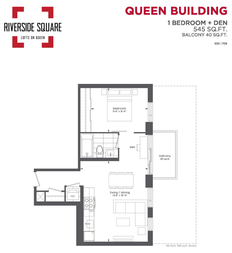 RIVERSIDE SQUARE CONDOS - ONE PLUS DEN 545 SQ FT - CONTACT YOSSI KAPLAN