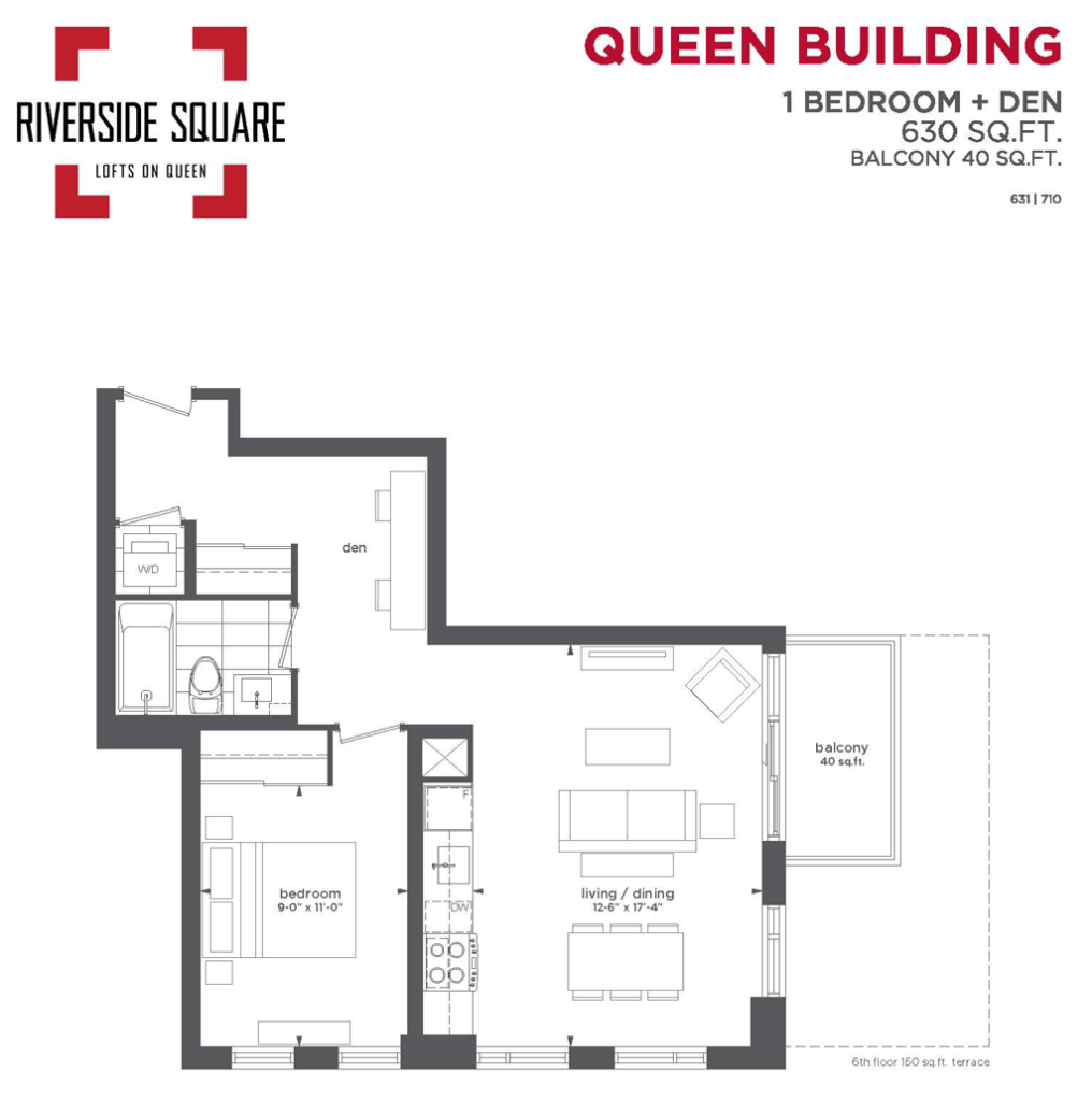 RIVERSIDE SQUARE CONDOS - ONE PLUS DEN 630 SQ FT - CONTACT YOSSI KAPLAN