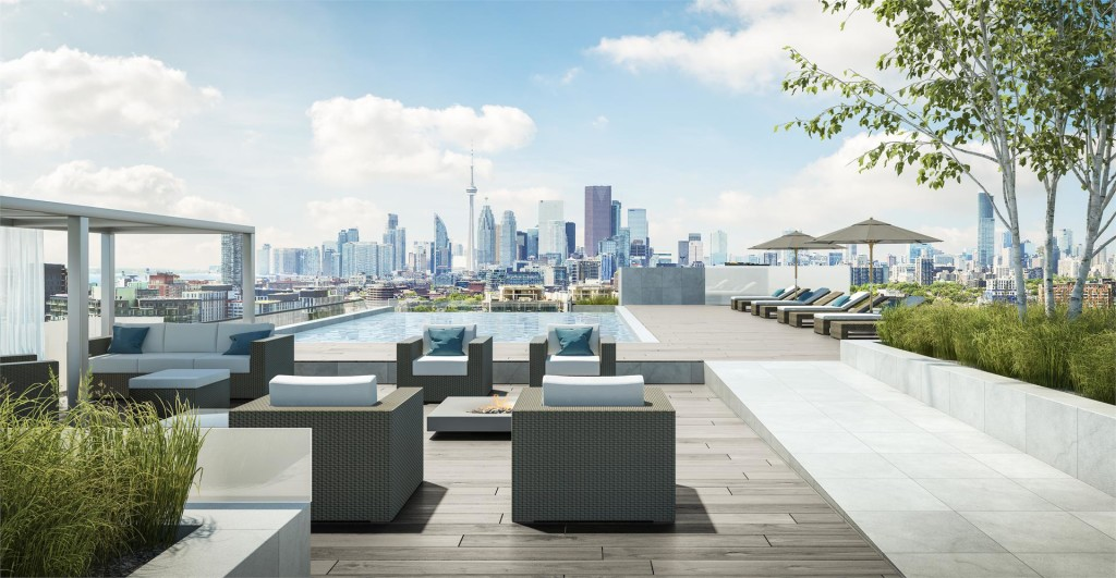 RIVERSIDE SQUARE CONDOS - ROOFTOP POOL LOUNGE