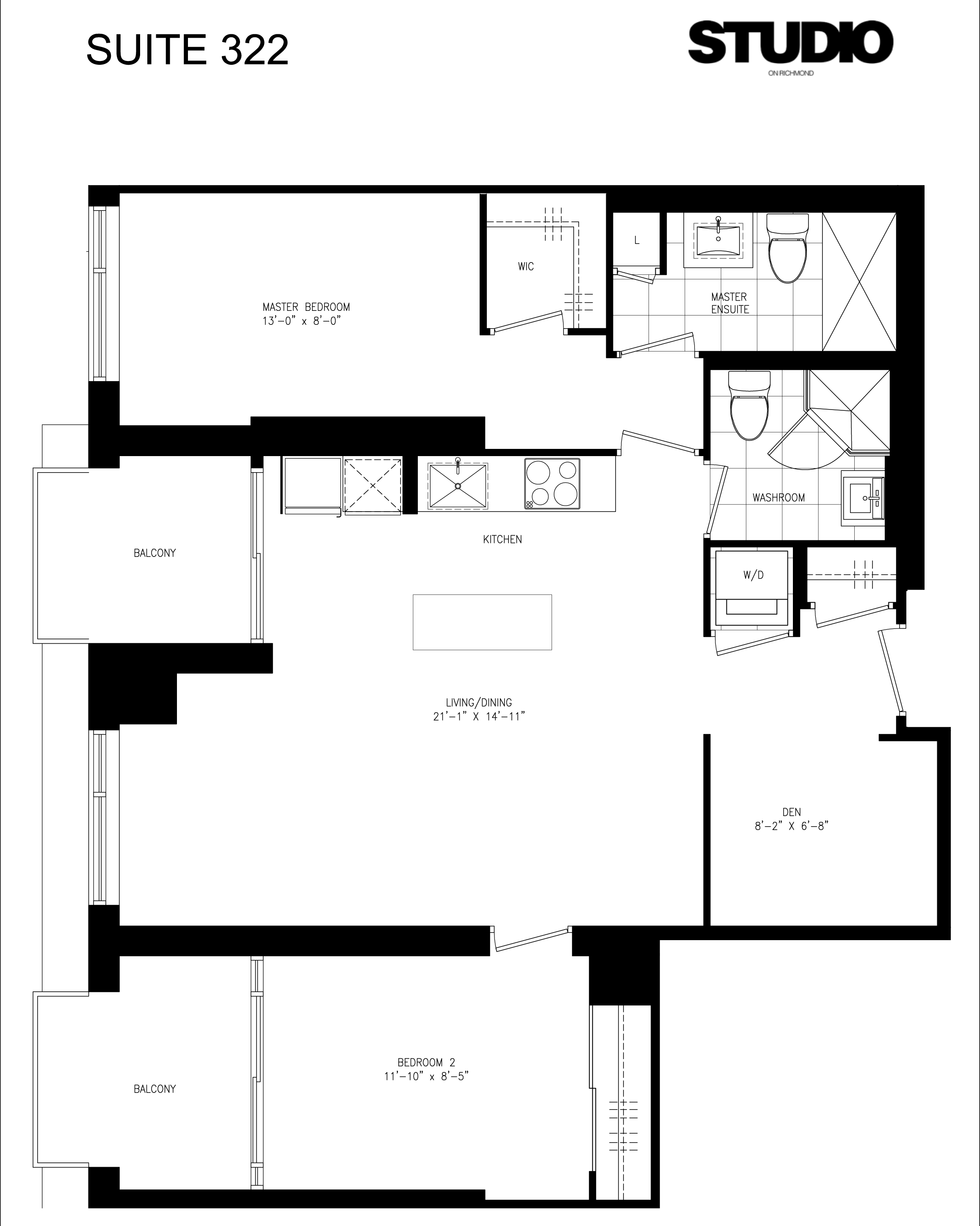 STUDIO CONDOS ON RICHMOND - FLOORPLANS