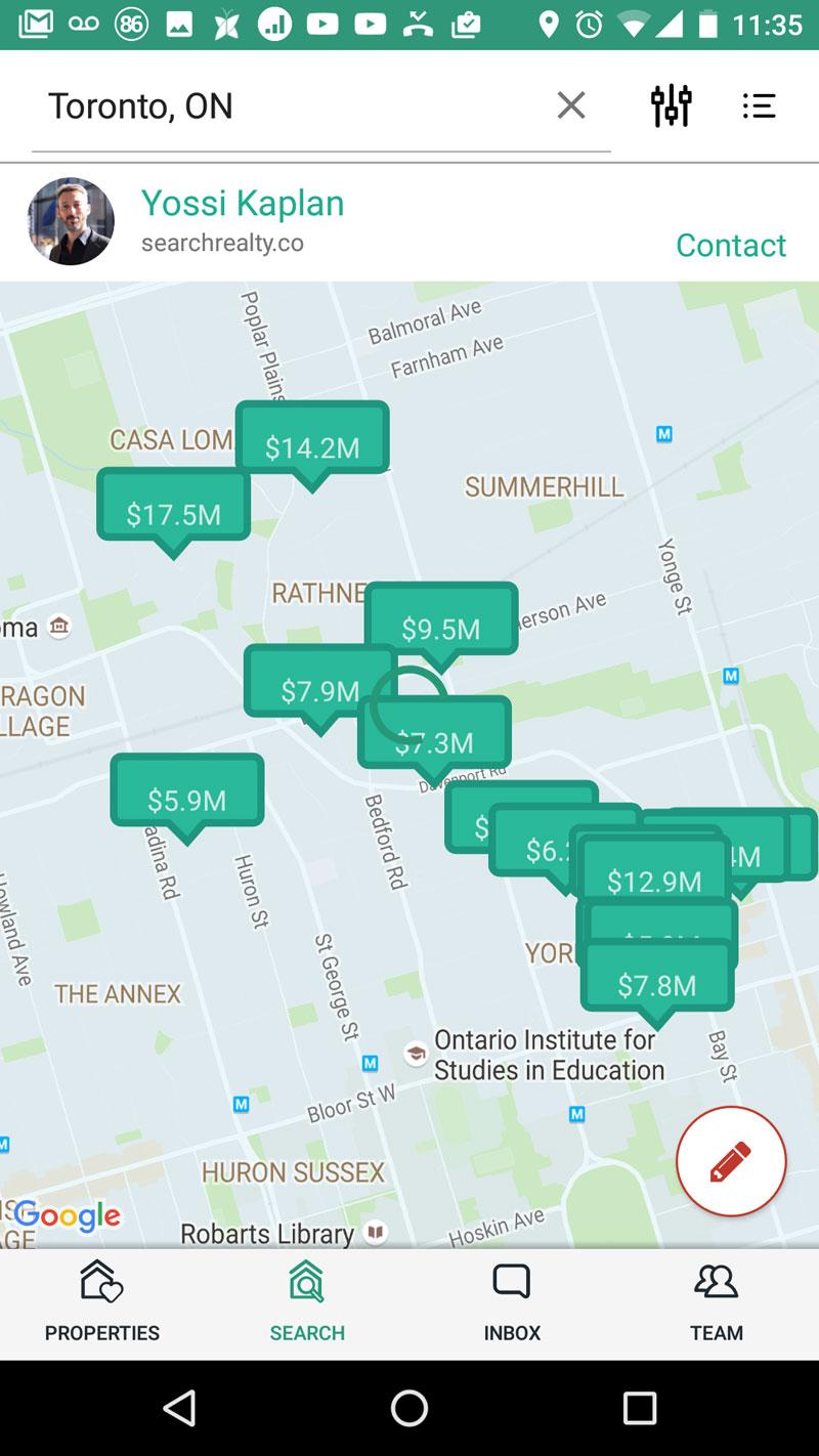 Search App Map - Yossi Kaplan