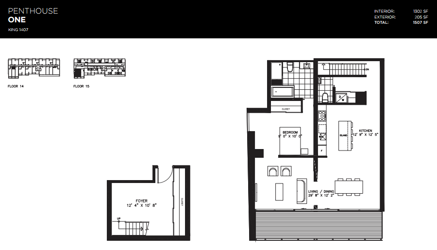 THOMPSON RESIDENCES - PENTHOUSE FOR SALE - 1302 SQ FT