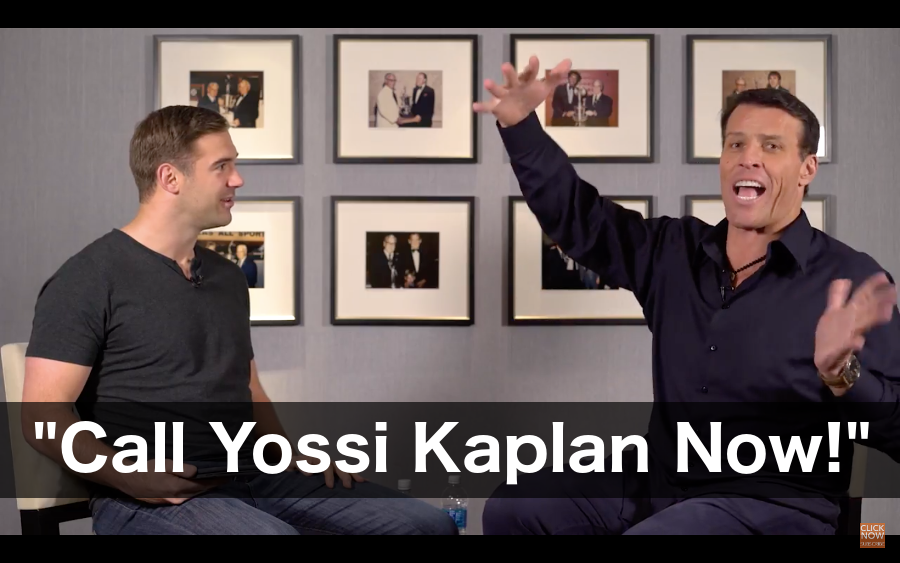 Tony Robbins Advice for Investors - Call Yossi Kaplan Now!