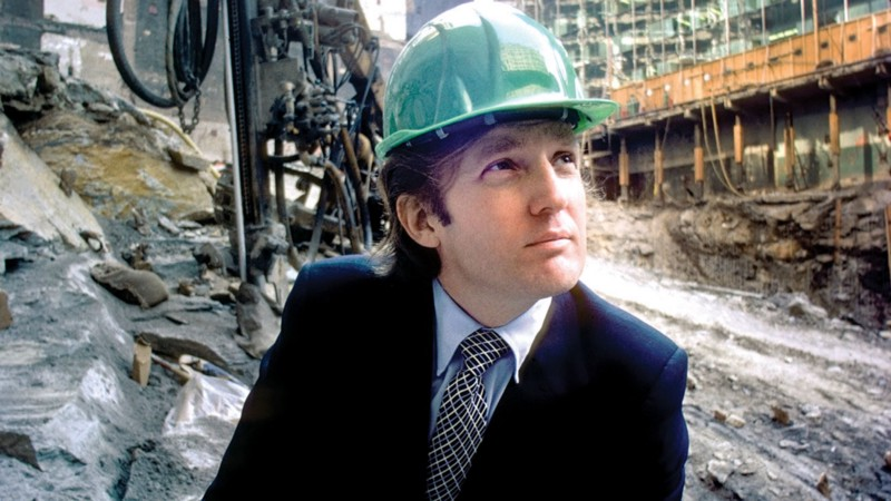 DONALND TRUMP ON CONSTRUCTION SITE (illustration)